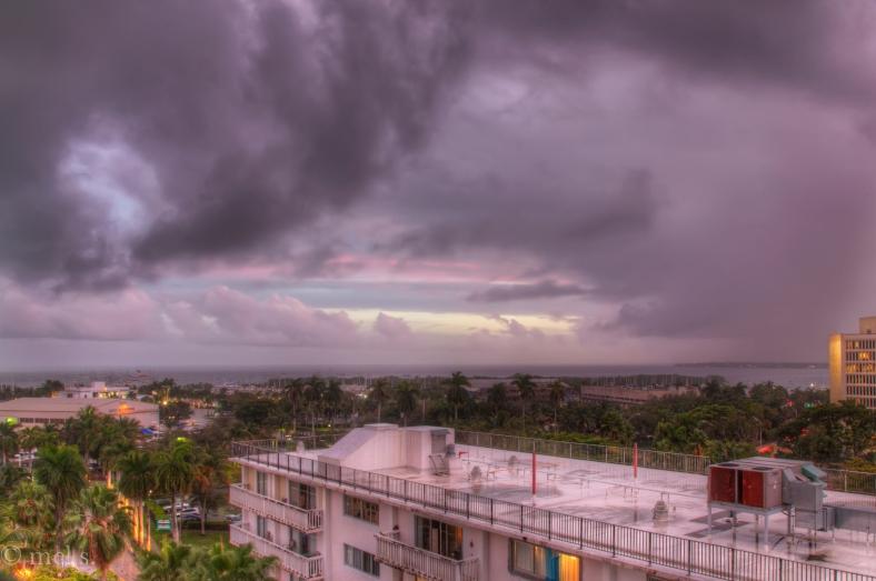 Biscayne Sunset after storm HDOR 702-4