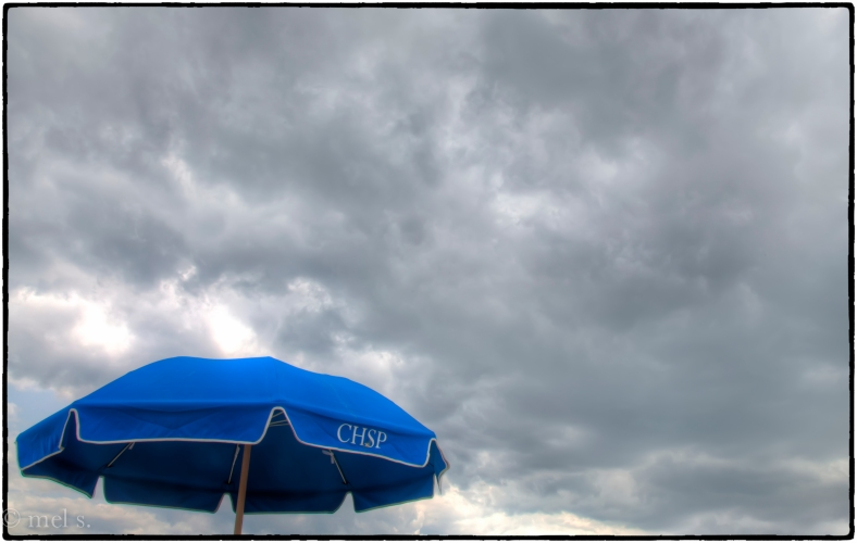 Cape Henlopen Umbrella and Clouds HDR 1850-2